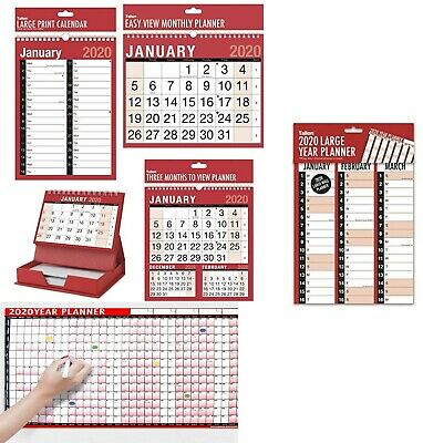 2019 Planner/MTV/3 Months To View/Calender/Wall Hanging Planner-Tallon