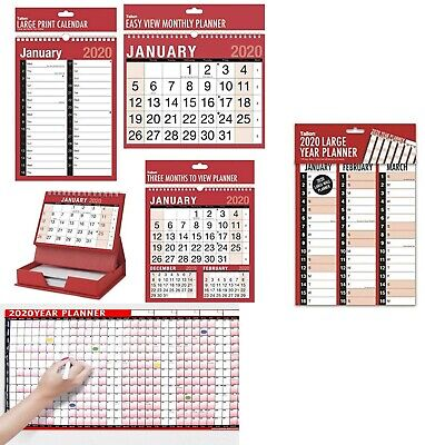 New 2018-19 Planner/MTV/3 Months To View/Calender/Wall Hanging Planner-Tallon