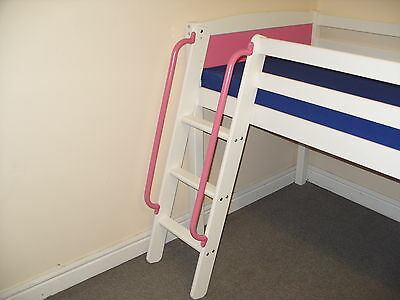 Pink Grab Handles For Children's Midi/mid Sleeper High Bunk Bed Frame