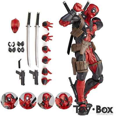 Deadpool Action Figure Models Toys Kids Gift Movie Marvel Superheroes Classic