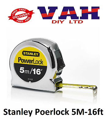 Stanley 5m/16ft Powerlock Tape Measure STA033553