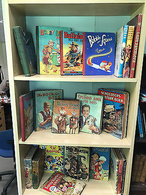 Collection of Vintage Old Annuals, Children & Adult, Great Range and Variety