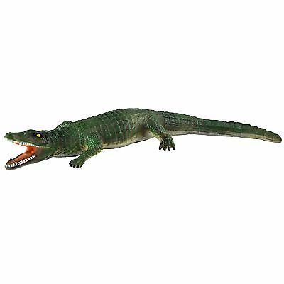 "18"" (46cm) Crocodile Stuffed Rubber Realistic Details Play Toy Museum"