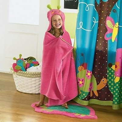 Jumping Beans® Butterfly Hooded Bath Towel, in Pink