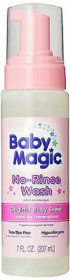 Baby Magic No-Rinse Wash, Original Baby Scent, 7 Ounces