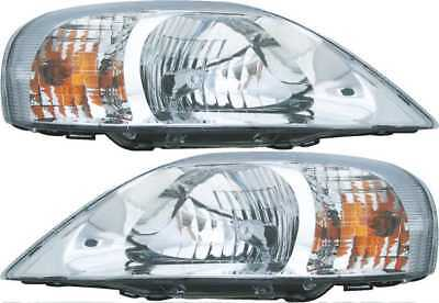 New Pair Left and Right Headlight Assemblies fits 2000-2005 Mercury Sable