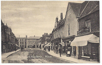 WIMBORNE The Square, Showing Shops, Old Postcard Posted c1910. Wyndham Series