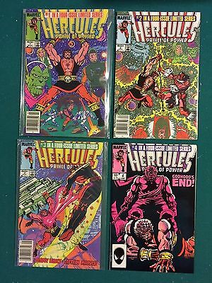 Hercules Prince of Power #1 2 3 4 Four Issue Limited Series 1983 Marvel VF