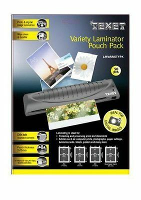 Texet Laminator Pouches Variety Pack (Pack of 50) ME29
