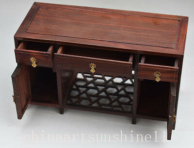 Exquisite Oriental Pear Wood Handmade Carved Wooden cabinet Engraving Decoration