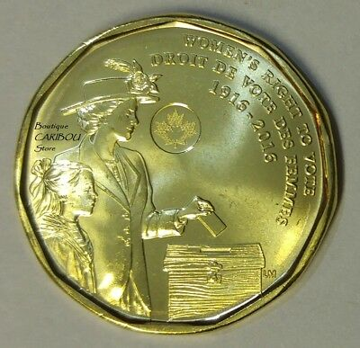 2016 Canada Women's Right To Vote Loonie BU