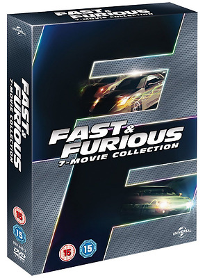 Fast and Furious 1 - 7 DVD Collection Complete Set  1 2 3 4 5 & 6 + 7