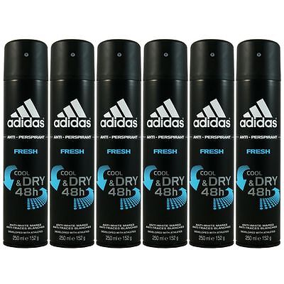 Adidas Fresh Cool & Dry 48h 6 x 250 ml Deodorant Deo Spray Deospray Set