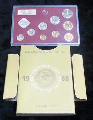 1988 Leningrad Mint * Russia Coin Set * 9 Coins * Awesome Set!