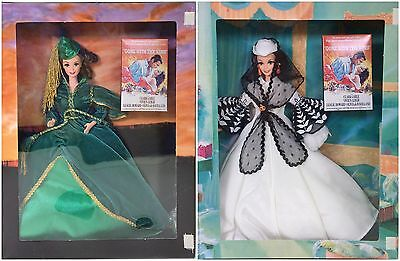 Lot Of 2 Gone With The Wind Barbies Drapes & Honeymoon Nrfb
