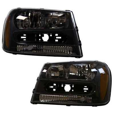 Pair (2) New Headlight Assembly fits Chevy Trailblazer With Lifetime Warranty