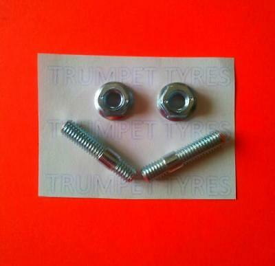 VESPA ET2 50 6MM M6 Exhaust Studs & Nuts Set VE13017 VN30501