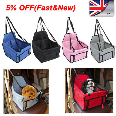 Pet Car Carrier Bag with Safety Belt for Dog/Cat/Puppy Travel Booster Seat New E