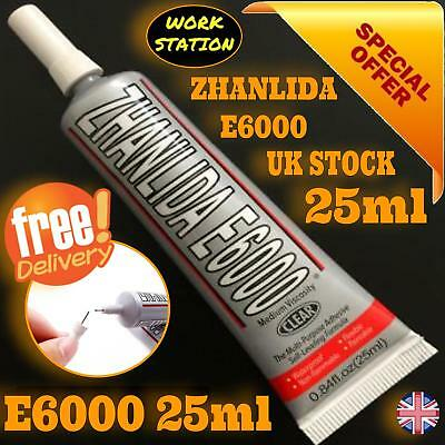 E6000 Glue Industrial Strength 29.5 ml Crafts Diy Rhinestones Free Nozzle & Post