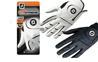 Footjoy GTxtreme Mens Golf Gloves LH and RH White, Black and White / Blue