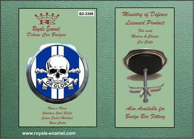 Royale Military Car Grill Badge & Fittings 17TH 21ST LANCERS BLUE B2.3369