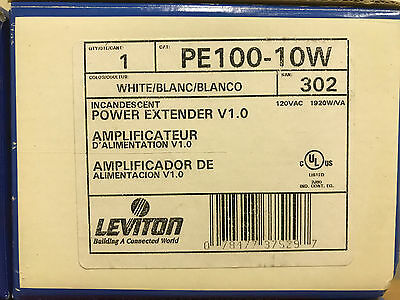 Leviton PE100-10W Power Extender Incandescent and Magnetic Low-Voltage, 1920W