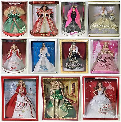 Lot Of 11 Holiday Barbies Nrfb