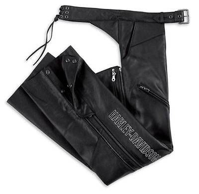 Harley-Davidson® Women's Deluxe Leather Motorcycle Chap Black 98097-06VW Size S