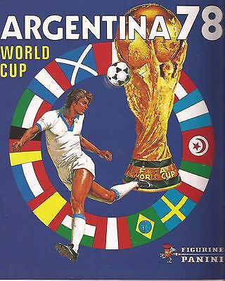 Panini FIFA World Cup ARGENTINA 78 No Stickers Album Images Complete Reprint