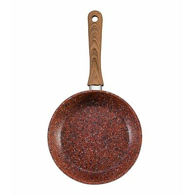JML Copper Stone Pans Non-Stick & Hard Wearing With Wood Effect Handle 28cm