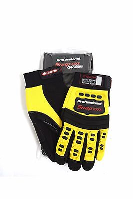 New Snap-On Professional Mechanic Gloves YELLOW Small Workwear S Mountain Bike