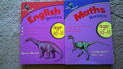 Leap Ahead Maths & English Basics Age 10-11. 2 Books. For Home Education.