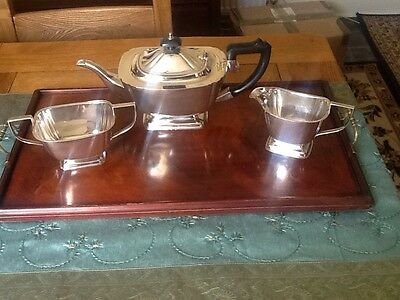Art Deco Silver Plated Tea Set - A E Williams Birmingham