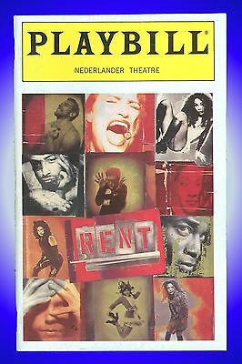 Playbill + Rent + Norbert Leo Butz , Jessica Boevers , Will Chase, Michael McElr