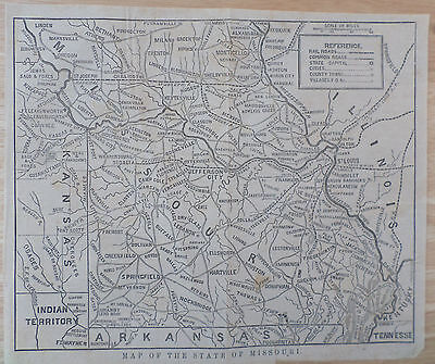 Map of the State of Missouri Indian Territory c. 1860