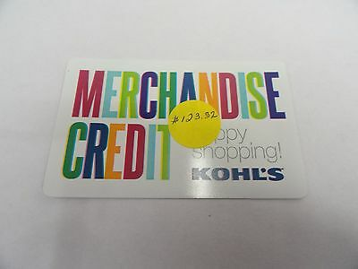 Kohl's Gift Card with $123.32 Balance