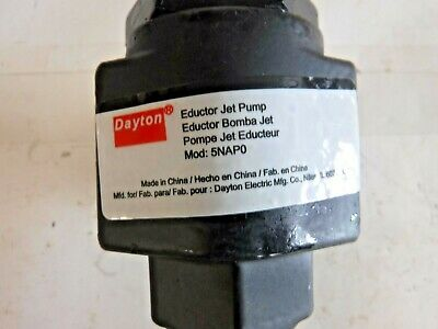 "Dayton Maintenance-Free Jet Pump, 1"" NPT Inlet, 0.61 Sizing Factor (B)"