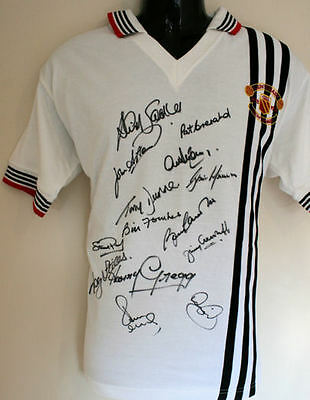 Manchester United 1978 Centenary Shirt Signed By 14