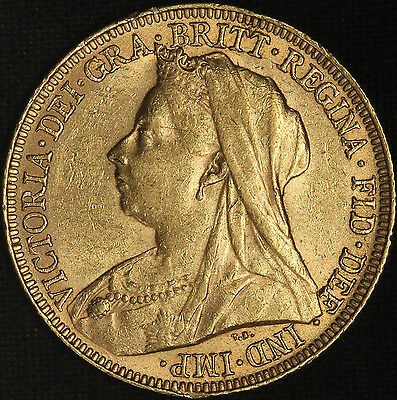 1894 Great Britain Queen Victoria Gold Sovereign .2355 AGW - Free Shipping USA