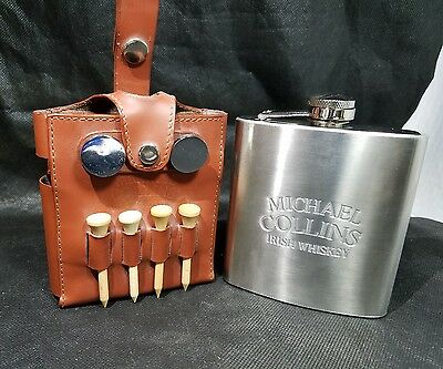 michael collins whiskey flask-golf