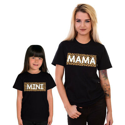 Mama And Mini Mum Mother Daughter Funny Slogan Matching T shirts Cute Gift #MA1