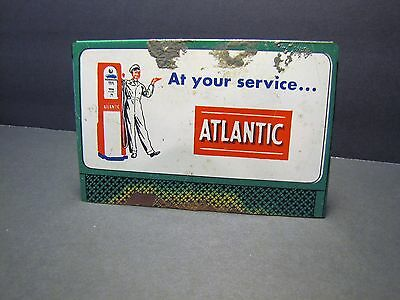 Vintage ATLANTIC GASOLINE Metal Billboard Sign Lionel Train Set Accessory