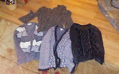 Lot of 4 Women's beautiful sweaters all brand names Coldwater Creek apt 9 M L