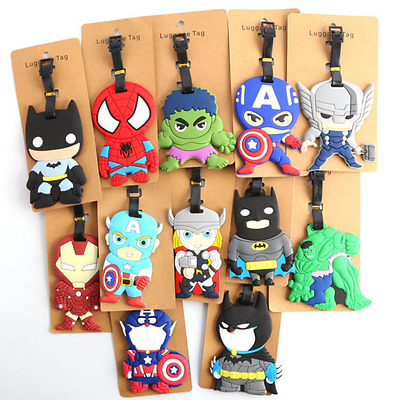Deadpool Action Figures Luggage Tags Superhero Batman Holiday Suitecase Bags New