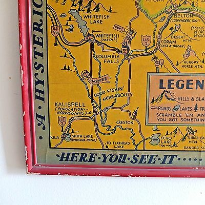 Jolly Lindgren Brothers Spokane Hysterical Map Yosemite & Glacier National Park