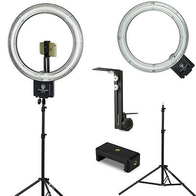 "Diva Ring Light Nova 18"" Ring Light w/Stand, Light Stand Z-Bracket & Phone Mount"