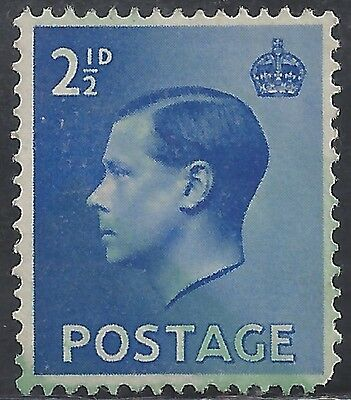 "Great Britain Stamp - Scott #233/A99 2 1/2p Brt Ultra ""Edward VIII"" Canc/LH 1936"