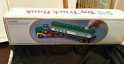 1984 Hess Gasoline Tanker Truck w/Bank (NEW, ABSOLUTE MINT CONDITION!!)