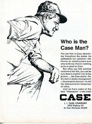 1968 Dealer Print Ad of JI Case Tractor Company Who is the Case Man?
