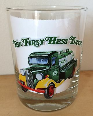 """The First Hess Truck"" Drink Glass From 1996 Hess Classic Truck Series"
